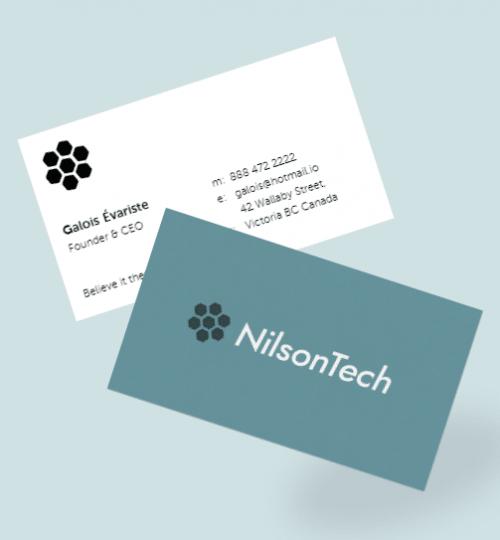 nilsontech business card